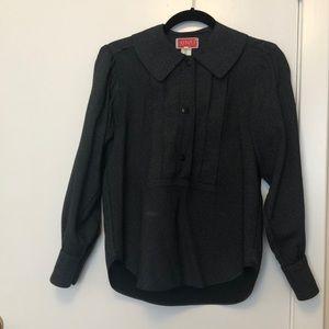 Black and white polkadot vintage blouse
